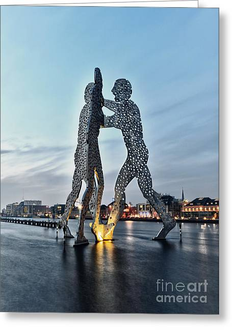 Deutschland Pyrography Greeting Cards - Berlin - Molecule Man  Greeting Card by ARTSHOT  - Photographic Art