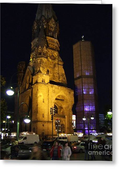 Berlin Nights Greeting Card by Michael Swanson