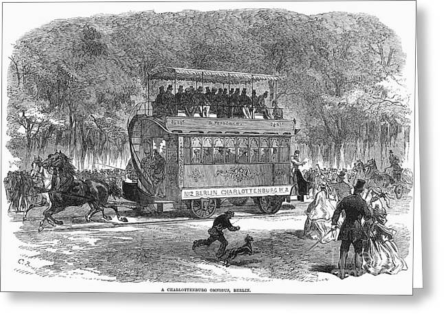Omnibus Greeting Cards - Berlin: Omnibus, 1866 Greeting Card by Granger