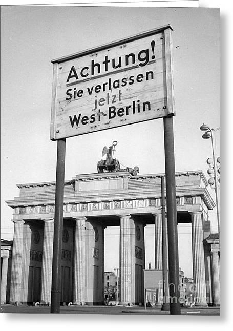 Berlin Germany Greeting Cards - Berlin Greeting Card by Photo Researchers, Inc.