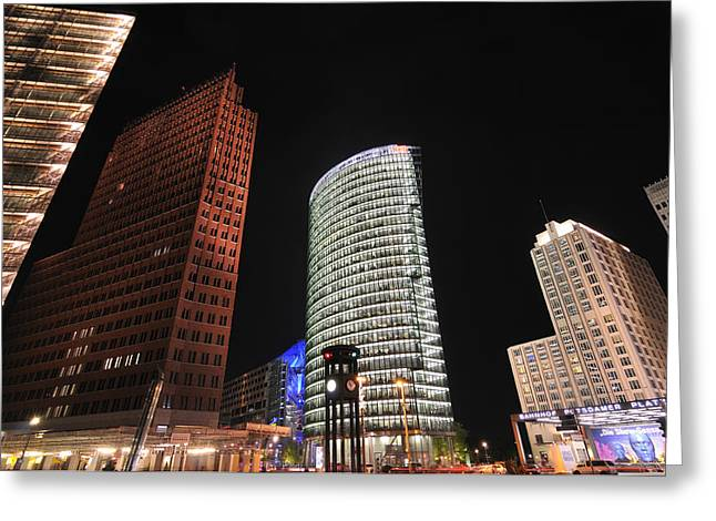 Berlin Potsdamer Platz Potsdam Square Germany Greeting Card by Matthias Hauser