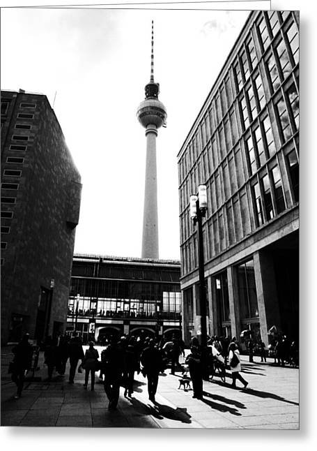 Tower Pyrography Greeting Cards - Berlin street photography Greeting Card by Falko Follert