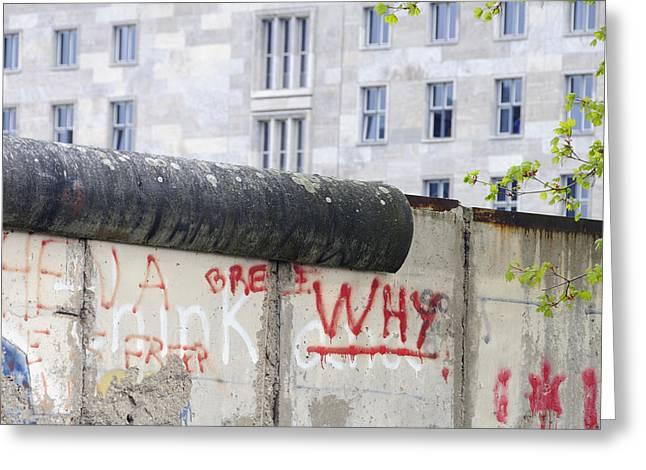 Berlin Wall Greeting Cards - Berlin Wall Greeting Card by Matthias Hauser