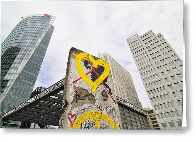 Berlin Wall Greeting Cards - Berlin Wall Potsdam Square Potsdamer Platz Greeting Card by Matthias Hauser