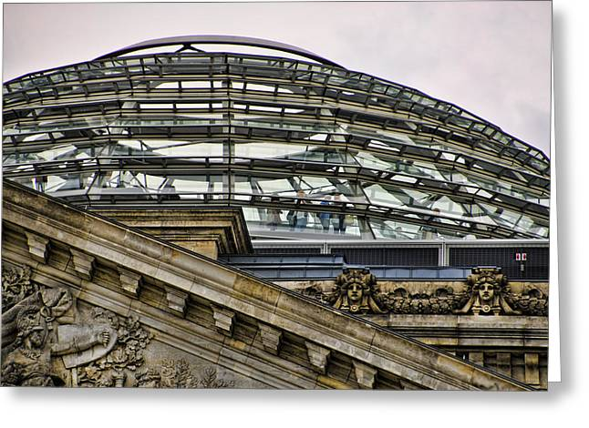Berlin Germany Greeting Cards - Berlins Reichstag Dome Greeting Card by Jon Berghoff