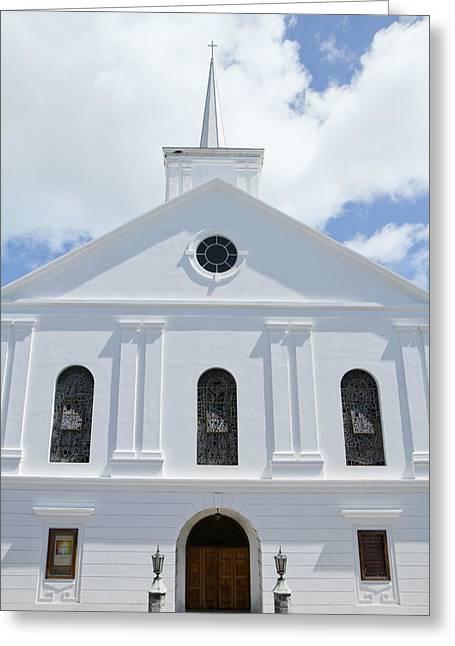 Bermuda Church Greeting Card by Vinnie Finn