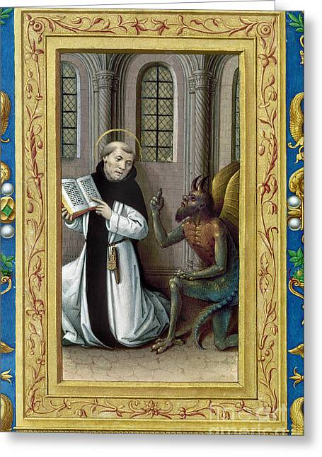 Reformer Greeting Cards - BERNARD de CLAIRVAUX Greeting Card by Granger