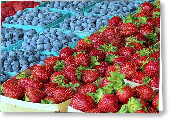 Farm Stand Greeting Cards - Berries Greeting Card by Janice Drew