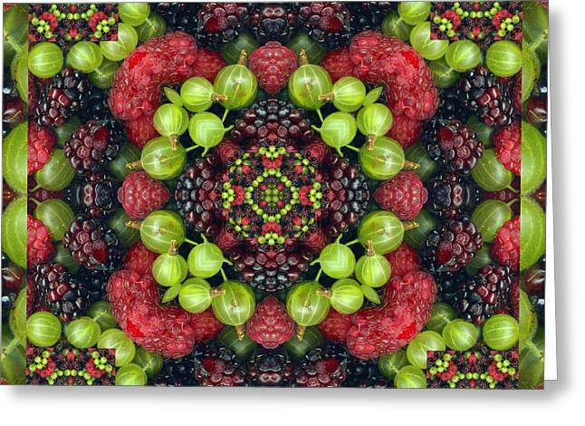 Black Berries Greeting Cards - Berry Good Greeting Card by Bell And Todd