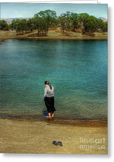Lake Berryessa Greeting Cards - Berryessa and Me Greeting Card by Agrofilms Photography