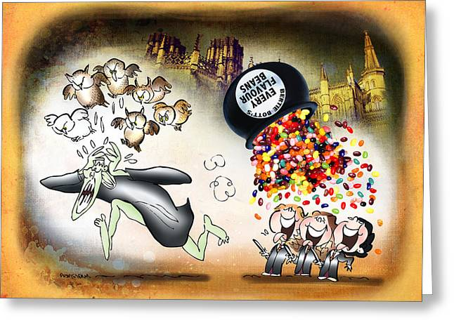 Bertie Bott's Beans Greeting Card by Mark Armstrong