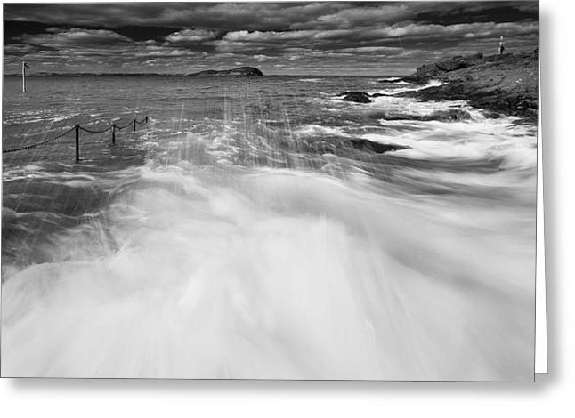 Caost Greeting Cards - Berwick Breakers Greeting Card by Keith Thorburn LRPS