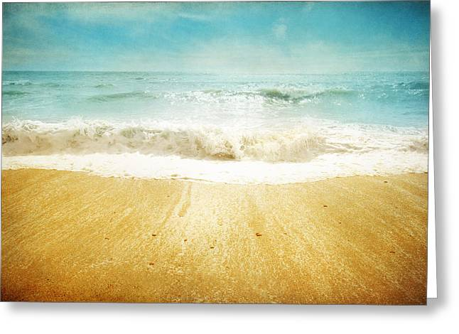 Sparkling Beach Greeting Cards - Beside the Sea II Greeting Card by Sharon Johnstone