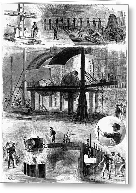 1876 Greeting Cards - Bessemer Steel, 1876 Greeting Card by Granger