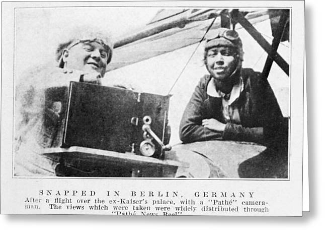 Black History Greeting Cards - Bessie Coleman, Us Aviation Pioneer Greeting Card by Schomburg Centernew York Public Library