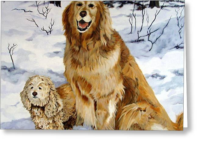 Best Friends Greeting Card by Sandra Chase