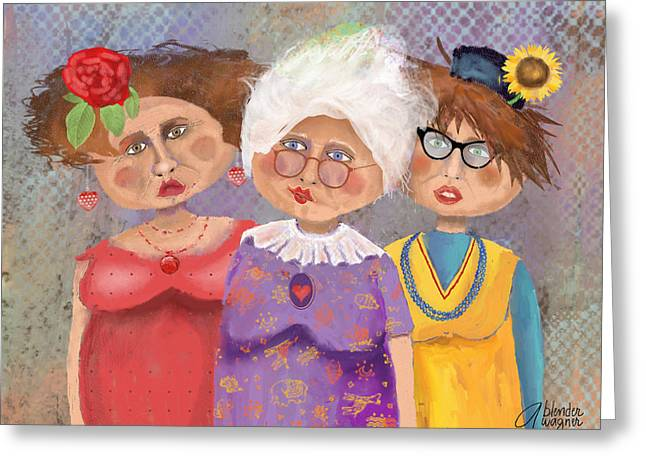 Senior Citizens Greeting Cards - BestFriendsForever Greeting Card by Arline Wagner