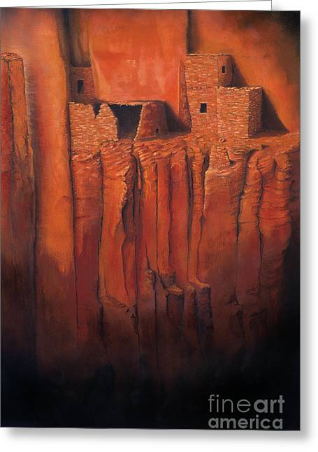 Native American Dwellings Greeting Cards - Betatakin Ruins Greeting Card by Jerry McElroy