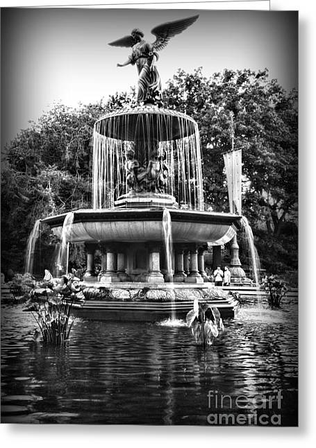 Bethesda Fountain Greeting Cards - Bethesda Fountain Greeting Card by Paul Ward