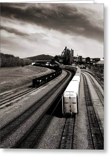 Train Tracks Greeting Cards - Bethlehem Stolen Greeting Card by Mark Montana