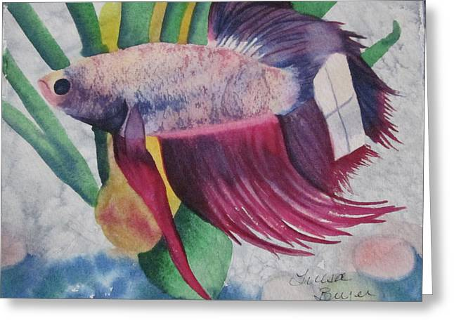 Betta Greeting Cards - Betta Greeting Card by Teresa Beyer