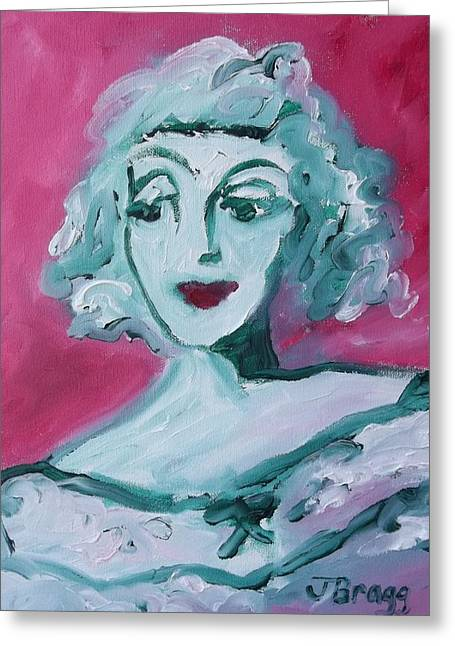 Powder Mixed Media Greeting Cards - Bette Davis Greeting Card by Janel Bragg