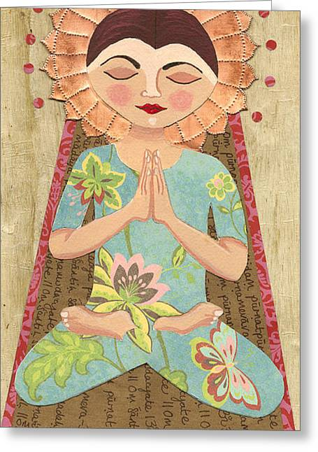 Religious Mixed Media Greeting Cards - Better Me Greeting Card by Justine Aldersey-Williams