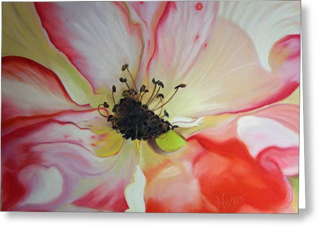 Close Up Floral Pastels Greeting Cards - Betty Boop Rose Greeting Card by Marcia  Hero