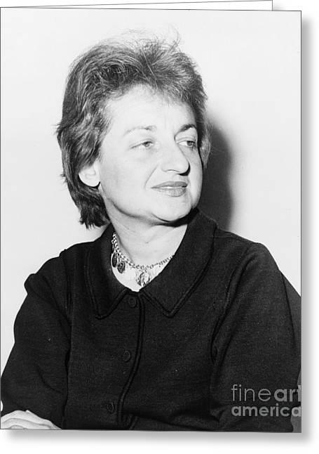 Lib Greeting Cards - Betty Friedan (1921-2006) Greeting Card by Granger