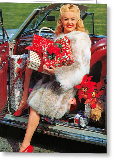 1941 Movies Greeting Cards - Betty Grable (1916-1973) Greeting Card by Granger