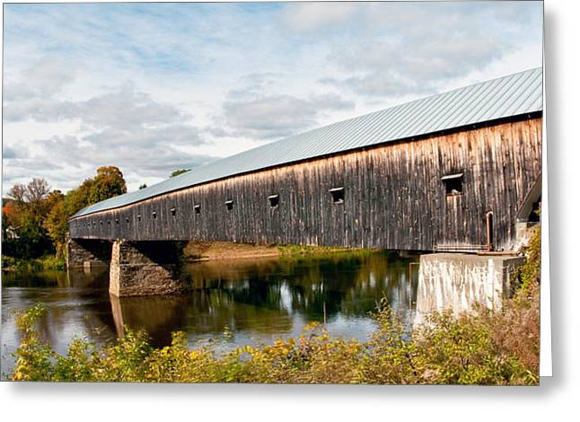 Connecticut Covered Bridge Greeting Cards - Between Here and There Greeting Card by Aron Kearney Fine Art Photography
