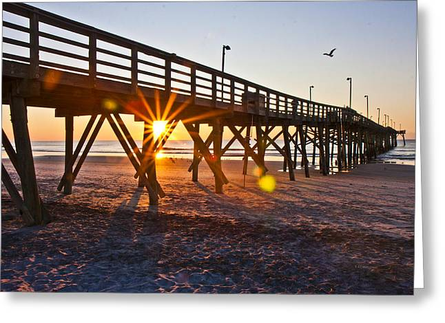 Between The Poles Greeting Card by Betsy C Knapp