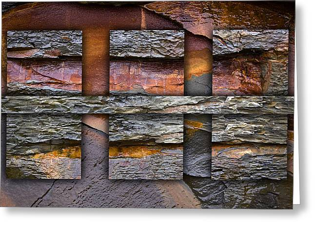 Geology Photographs Greeting Cards - Between Tides Number 5 Greeting Card by Carol Leigh