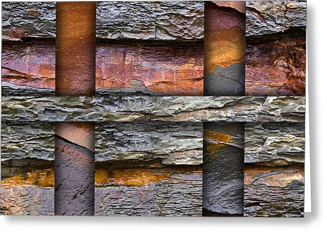 Geology Photographs Greeting Cards - Between Tides Number 5 Square Greeting Card by Carol Leigh