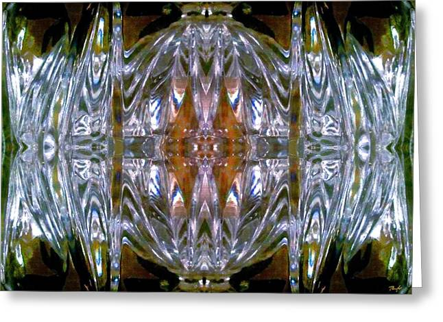 Glasswork Greeting Cards - Bevelled Glasswork Greeting Card by Romy Galicia