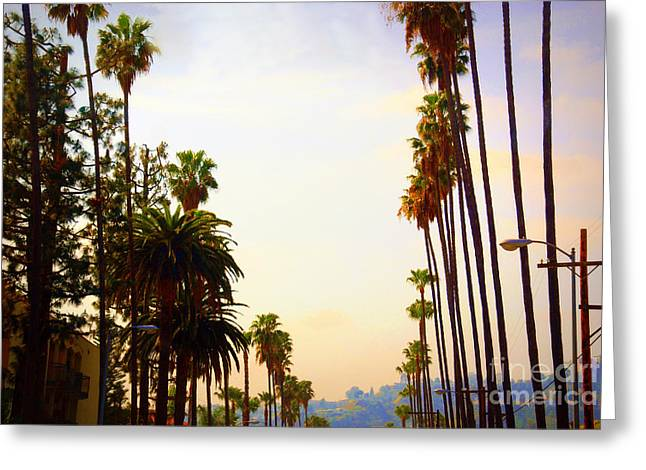 The Hills Greeting Cards - Beverly Hills in LA Greeting Card by Susanne Van Hulst