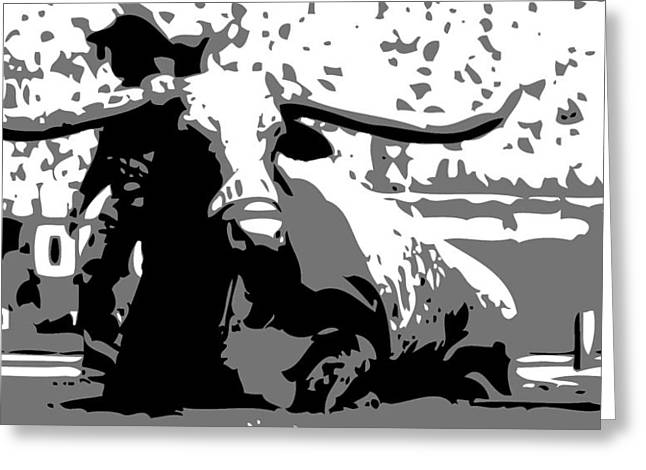 Capitol Digital Greeting Cards - Bevo BW3 Greeting Card by Scott Kelley