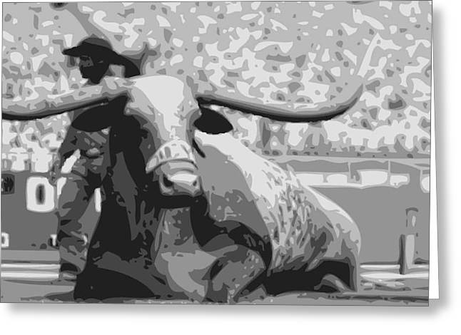 Capitol Digital Greeting Cards - Bevo BW6 Greeting Card by Scott Kelley