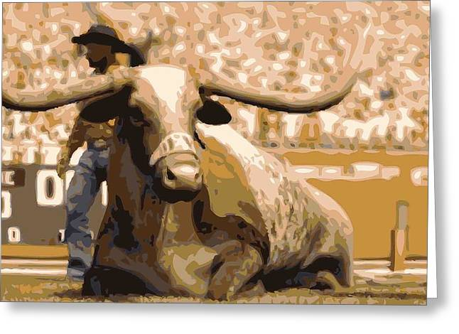 Capitol Digital Greeting Cards - Bevo Color 16 Greeting Card by Scott Kelley