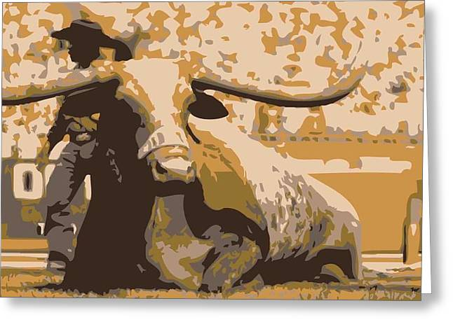 Capitol Digital Greeting Cards - Bevo Color 6 Greeting Card by Scott Kelley