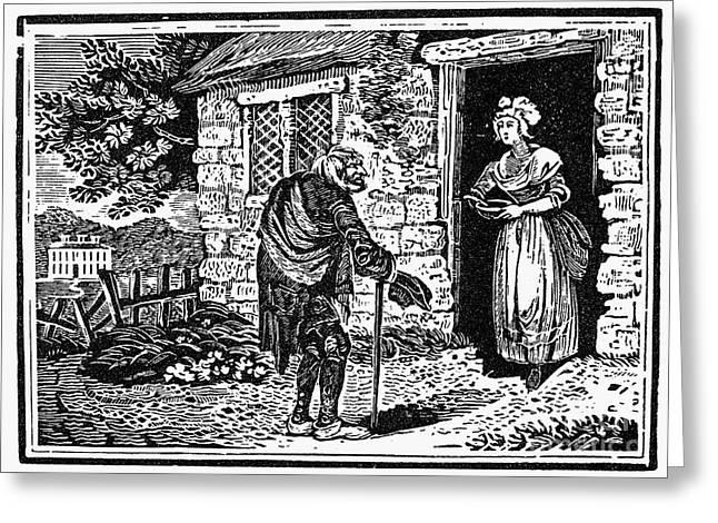 Bewick Greeting Cards - Bewick: Beggar Greeting Card by Granger