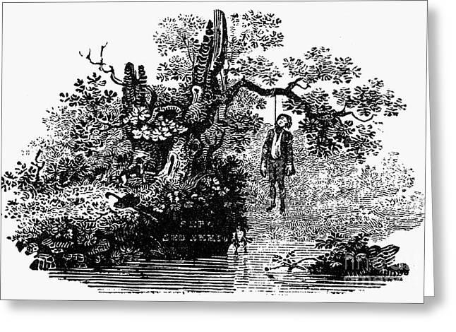 Bewick Greeting Cards - Bewick: Hanged Man Greeting Card by Granger