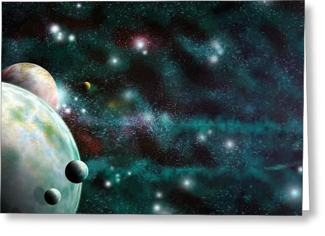 Universe Digital Art Greeting Cards - Beyond Heaven Greeting Card by Adam Vance