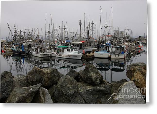 French Creek Marina Greeting Cards - Beyond The Stones Greeting Card by Bob Christopher