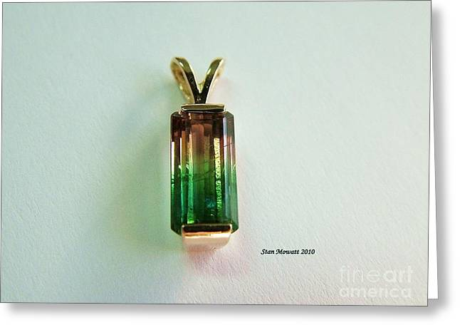 Jewelry Jewelry Greeting Cards - Bi Color Tourmaline Greeting Card by Stan Mowatt