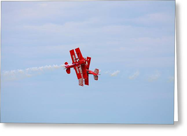 Kevin Schrader Greeting Cards - Bi Plane Croos Greeting Card by Kevin Schrader