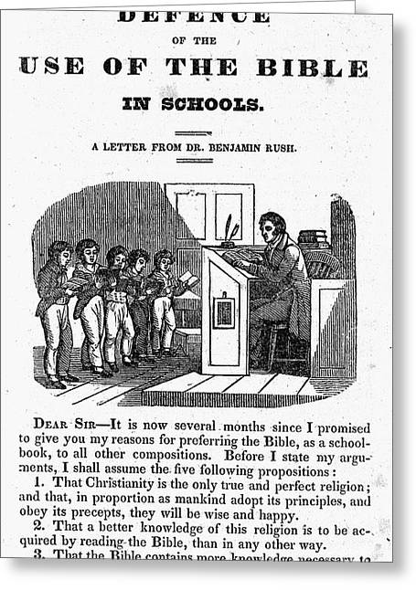 Book Title Greeting Cards - BIBLE IN SCHOOLS, c1830 Greeting Card by Granger