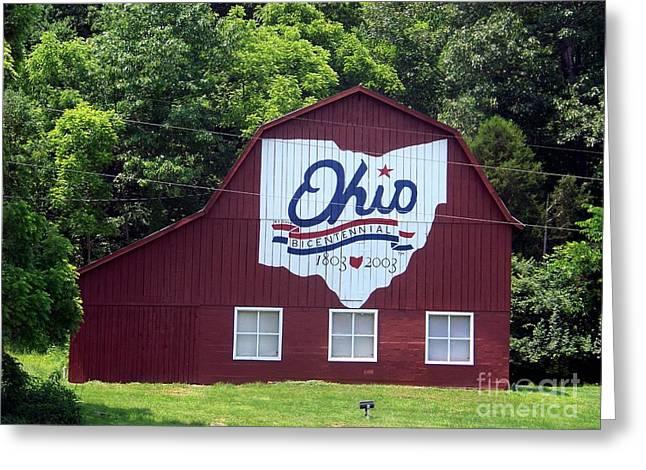Ohio History Greeting Cards - Bicentennial Barn Greeting Card by Charles Robinson