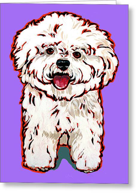 Nadi Spencer Paintings Greeting Cards - Bichon Frise Greeting Card by Nadi Spencer