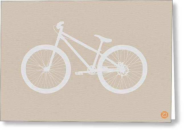 Bicycle Brown Poster Greeting Card by Naxart Studio